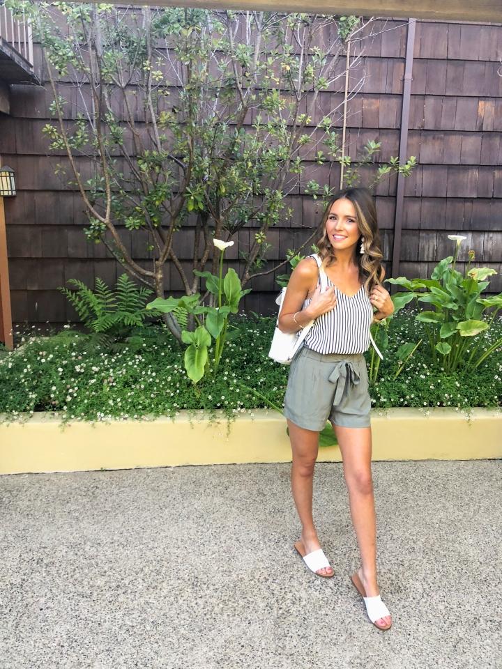 Olive Paperbag Shorts-48