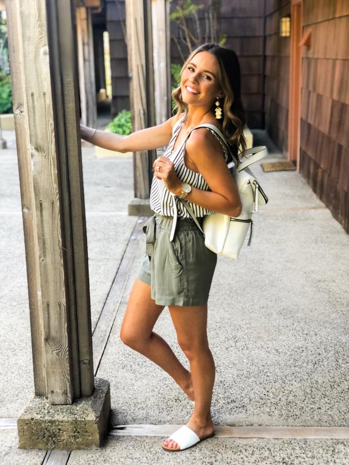 Olive Paperbag Shorts-53
